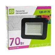 Прожектор светодиодный ASD СДО-07-70, 70Вт, IP65, 6500К, 5600лм, чёрный