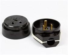 Штепсельный разъем SmartBuy SBE-IS2-250-C, РШ/ВШ, 32А, 230В, для электроплит, открытой установки ОУ, с заземлением, карболит, черный