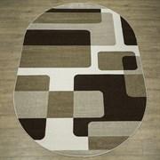 Ковер Фиеста 34113-36955, 60х110см, овальный, бежевый с рисунком