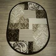 Ковер Круиз 22304-29655, 60х110см, овальный, бежево-коричневый с рисунком