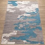 Ковер Фиеста 36204-37126, 60х110см, прямоугольный, серо-голубой с рисунком