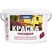 Краска вододисперсионная акриловая фасадная Proremontt/Проремонт, 3кг, белая