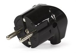 Вилка электрическая SmartBuy SBE-16-P02-b, 16А, 250В, угловая, с заземлением, черная