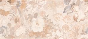 Плитка настенная керамическая облицовочная VERANO Цветы 138962, 20x45см, глянцевая, бежевая