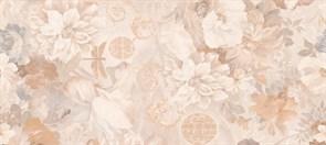 Плитка настенная керамическая облицовочная VERANO Цветы 138962/2, 20x45см, глянцевая, бежевая