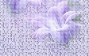 Плитка настенная керамическая облицовочная 122985 BELLA  Деко-2, 25x40см, объемная, глянцевая, фиолетовая