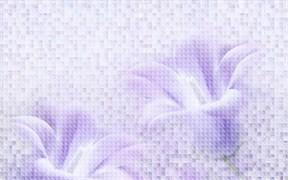 Плитка настенная керамическая облицовочная 122984 BELLA  Деко-1, 25x40см, объемная, глянцевая, фиолетовая