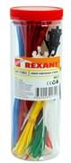 Хомут/кабельная стяжка REXANT НХ-2 07-7202, 100, 200мм, цветной, пластиковый, тубус 300шт.