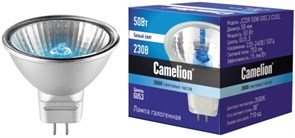 Лампа галогеновая Camelion, JCDR, 50Вт , GX5.3