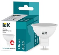 Лампа светодиодная IEK ECO LLE-MR16-5-230-40-GU5.3, MR16, 4000К, 5Вт, 220-240В,GU5.3