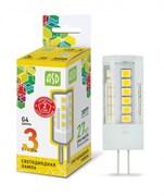 Лампа светодиодная ASD LED-JC-G4-standart, 4000К, 3Вт, 12В, 270Лм, G4