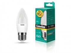 Лампа светодиодная Camelion LED10-C35/830/E27, 10Вт, 170-265В, Е27