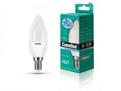 Лампа светодиодная Camelion LED8-C35/845/E14, 8Вт, 170-265В, E14