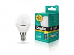 Лампа светодиодная Camelion LED8-G45/830/E14, 8Вт, 170-265В, E14
