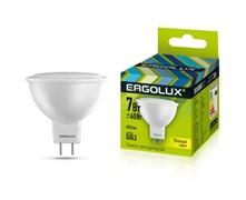 Лампа светодиодная Ergolux LED-JCDR-7W-GU5.3-4К, 7Вт, 180-240В, GU5.3
