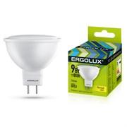 Лампа светодиодная Ergolux LED-JCDR-9W-GU5.3-3К, 9Вт, 180-240В, GU5.3