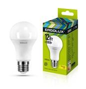 Лампа светодиодная Ergolux LED-A60-12W-E27-4K, ЛОН, 12Вт, 180-240В, Е27