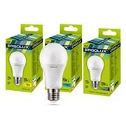 Лампа светодиодная Ergolux LED-A60-17W-E27-4K, ЛОН, 17Вт, 180-240В, Е327