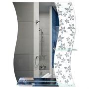 Зеркало фигурное с цветным светлым стеклом САНАКС 45450, 600х790мм, полка 500мм, комбинированное