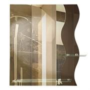 Зеркало фигурное с тонированным зеркалом САНАКС 45501, 590х690мм, полка 200мм, комбинированное