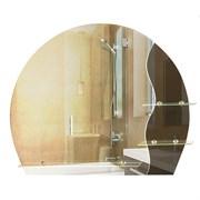 Зеркало фигурное с тонированным зеркалом САНАКС 45504, 765х630мм, полка 500мм, комбинированное