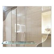 Зеркало фигурное с тонированным зеркалом САНАКС 45511, 600х500мм, полка 500мм, комбинированное