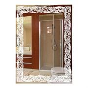 Зеркало фигурное с матированным рисунком САНАКС 45615, 490х690мм, комбинированоое
