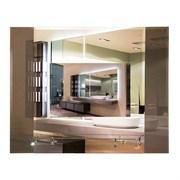 Зеркало прямоугольное с фацетом САНАКС 45651, 730х600мм, полка 500мм, комбинированное