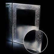 Зеркало прямоугольное с перфорированным серебряным узором САНАКС 46812, 518х730мм, полка 500мм с универсальным креплением к стене