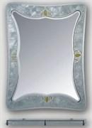 Зеркало овальное  с фигурной стеклянной рамкой HAIBA HB672/F, 600х800мм