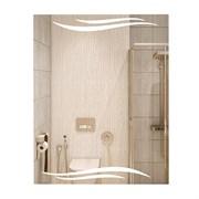 Зеркало фигурное с матированным рисунком САНАКС 45616, 535х680мм, комбинированоое