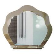 Зеркало фигурное с тонированным зеркалом САНАКС 45500, 765х670мм, полка 500мм, комбинированное