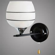 Светильник настенный/бра XA1035B/1W, 1х60W,E27, высота 160мм, HN19, BK+CR черный/хром
