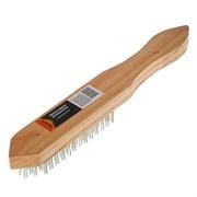 Щётка 6-рядная SPARTA 748265, металлическая, деревянная ручка