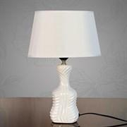Настольная лампа DS-TL3531W, высота 330мм, 1х60W, E27, белый/белый абажур