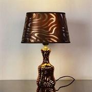 Настольная лампа DS-TL3531BR, высота 330мм, 1х60W, E27, коричневый/коричневый абажур