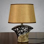 Настольная лампа DS-TL1419, высота 330мм, 1х60W, E27, бежевый/бежевый абажур