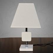 Настольная лампа 8088+505, высота 390мм, 1х60W, E27, белый/белый абажур