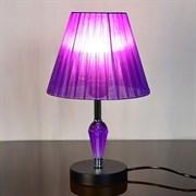 Настольная лампа 2045+142, высота 350мм, 1х60W, E27, черный/фиолетовый абажур