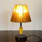 Настольная лампа 2044+149, высота 350мм, 1х60W, E27, черный/оранжевый абажур