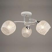 Люстра подвесная 3-рожковая, N3839/3, 3x40W, E27, диаметр 520мм, высота 230мм, QH20, WT+CR белый/хром