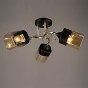Люстра подвесная 3-рожковая N3923/3, 3x40W, E27, диаметр 520мм, высота 230мм, QH20, BK+FGD золото/черный