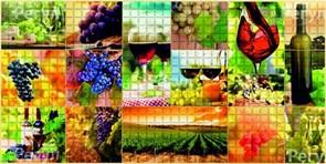 Панель-фартук ПВХ Мозаика Осень 157о, 488х955мм, толщина 0.3мм