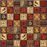 Панель-фартук ПВХ Мозаика Африка, 640х640мм