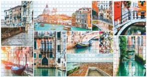 Панель-фартук ПВХ Мозаика Венецианская живопись, 957x480x0.3мм, бежевый