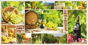 Панель-фартук ПВХ Мозаика Вино, 955x480x0.3мм