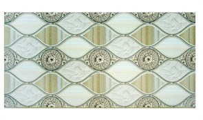 Панель-фартук ПВХ Мозаика Ладья Гибискус, 960x480x0.3мм, бежевый