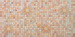 Панель-фартук ПВХ Мозаика Медальон коричневый 33к, 955x488x0.3мм