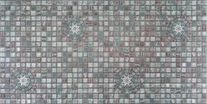 Панель-фартук ПВХ Мозаика Медальон олива 33о, 955x488x0.3мм