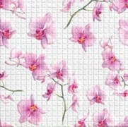 Панель-фартук ПВХ Мозаика Орхидея, 595x595x0.3мм